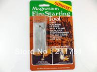 Free Shipping 1 Pcs Survival Kit Magnesium Flint Fire Starter Block Emergency Gear Hiking Camping