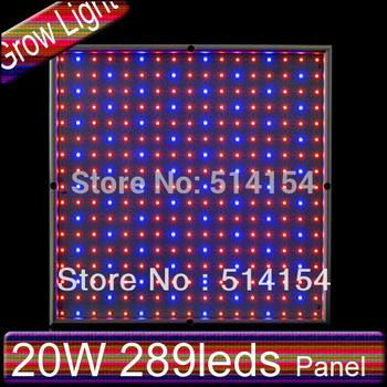 LED Plant growing lights 20W 289 leds Red:630 660nm Blue:420 nm square panel light