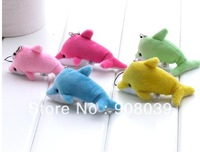 PROMOTION best quality low price plush dolphins key chian mobile phone's accessories straps
