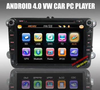 8 Car PC for VW SKODA SEAT with Android 4.04 1GB DDR3 8GB Flash Cortex A10 CPU1.0G Wifi Polo Passat Golf Jetta Tiguan Touran CC