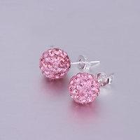 Shambala Balls Beads Eearrings Shambhala Rhinestone Crystal Fashion Jewelry Shamballa Earring B048