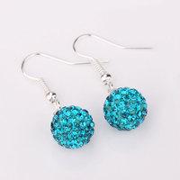 Shambala Balls Beads Eearrings Shambhala Rhinestone Crystal Fashion Jewelry Shamballa Earring B009
