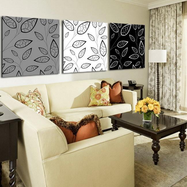 Online kopen wholesale moderne abstracte zwart grijs olieverfschilderij uit china moderne - Deco originele muur ...
