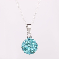 Shambhala Rhinestone Crystal Fashion Jewelry Shamballa Necklace Shambala Balls Bead Necklaces P011