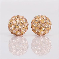 Shambala Balls Beads Eearrings Shambhala Rhinestone Crystal Fashion Jewelry Shamballa Earring B040