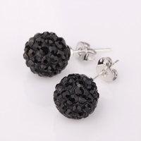 Shambala Balls Beads Eearrings Shambhala Rhinestone Crystal Fashion Jewelry Shamballa Earring B014