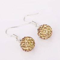 Shambala Balls Beads Eearrings Shambhala Rhinestone Crystal Fashion Jewelry Shamballa Earring B006