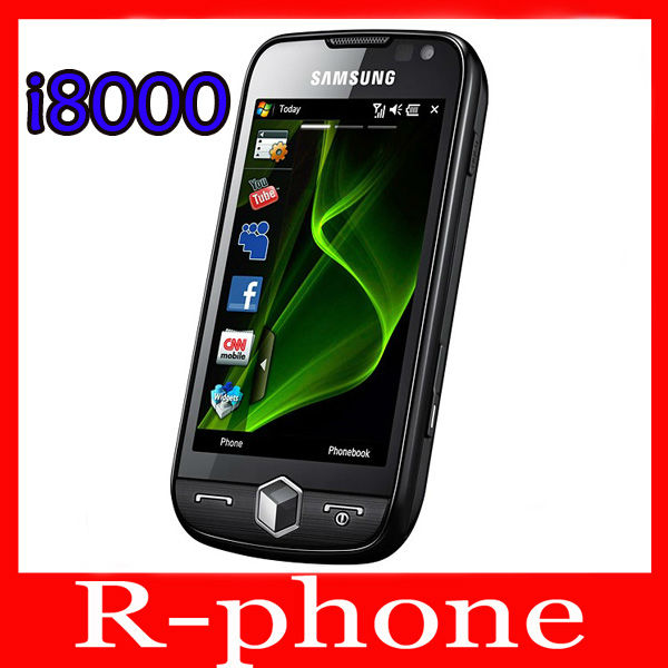 i8000 Original Samsung i8000 Omnia II Windows Mobile Phones 3G 5MP Camera WIFI GPS Free Shipping(China (Mainland))
