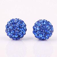 Shambala Balls Beads Eearrings Shambhala Rhinestone Crystal Fashion Jewelry Shamballa Earring B033