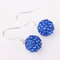 Shambala Balls Beads Eearrings Shambhala Rhinestone Crystal Fashion Jewelry Shamballa Earring B030