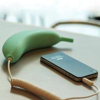 Creative Cute Banana Headphone radiation-proof radiation protection Handset Earphone For iPhone 4 4S Speaker Telephone