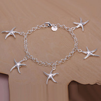 2013 wholesale Free shipping Fashion Chain Bracelet Health Care 925 Silver-plated Bracelets Jewelry H193