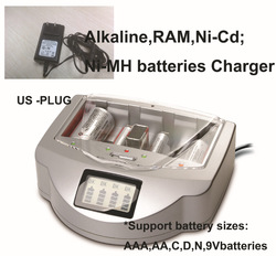 US Plug Multiply functions Rechargeable Alkaline Battery digital Charger universal for NiCad Ni-MH AA 1.2V 1.5V 9V battery(China (Mainland))