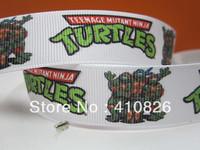 WM ribbon wholesale/OEM 7/8inch 22mm turtles printed grosgrain ribbon 50yds/roll free shipping