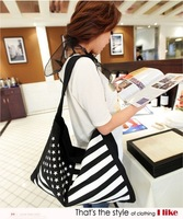 2012 spring fashion casual all-match flag canvas bags, female bags 3608 free shipping