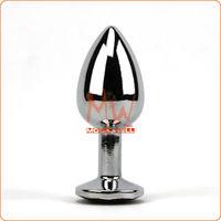 Free Shipping,Middle Size Metal Mini Anal plug Butt,Crystal Jewelry,Anal plug