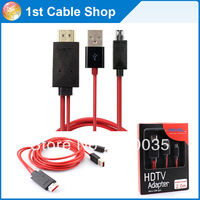 Free shipping 2M Micro USB to HDMI mhl cable for galaxy s2  i9100 / Note i9220/ HTC Amaze 4G / LG Prada 3.0