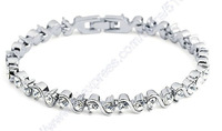 Free shipping Christmas gift Platinum Plated Romantic 3A grade Cubic zirconia bracelets & bangles for women 2012