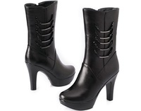 free shipping Fashion & sexy women's boots,all-matching shoe,Genuine leather.