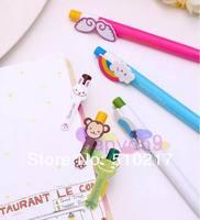 390pcs Creative stationery cute cartoon animals wings rainbow automatic ball-point pen 6models chosen free ship