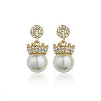 Golden/White 18K Gold Plated Earrings Jewelry Top Quality Great Austrian Crystal Earring Wholesale  1741168