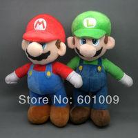 "Free Shipping New Super Mario Bros. Stand MARIO & LUIGI  Plush Doll Stuffed Toy 10"" Wholesale And Retail"