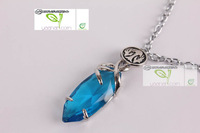 Anime Final Fantasy VII Yuna Blue Necklace Cosplay