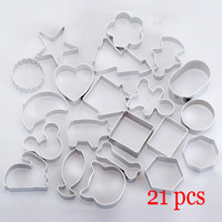 21pcs Cake Biscuit Cookie Pastry Decorating Fondant Sugarcraft Cutter Tool Mould Free shipping ! 20001