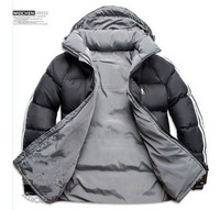 Men Double Side Wear Thicken Winter Outdoor Windbreaker Heavy Coats Down Jacket Clothes L XL XXL XXXLFree Shipping Black