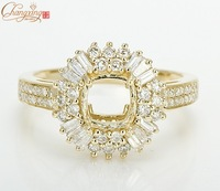 Wholesale Jewelry Solid 14k Yellow Gold Natural 0.80 Brilliant Diamond Semi Mount Engagement Setting Ring Free Shipping