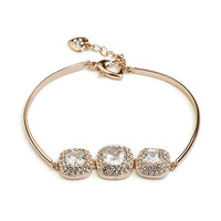 Exquisite Quality 18K White/Roee Gold Plated Bracelet Jewelry Austrian Crystals Best Seller Wholesale 1774165