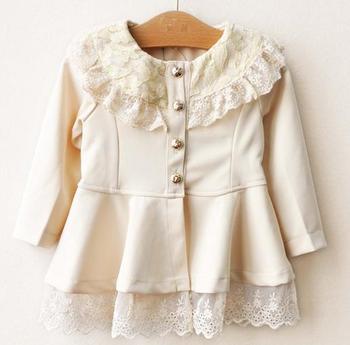 Free shipping 2013 new design spring/autunm Girls fashion lace dress princess dresses 5pcs/lot