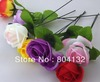 "200pcs 25cm/9.84"" Artificial Simulation Camellia Rose Flower one stems/Bush Flower head Dia. 6.6cm/2.6"" Wedding decorations"