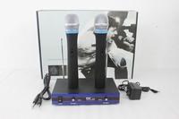 Free shipping NUOXUN  515 two wireless microphone, family microphone Handheld Wireless microphone system