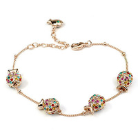 Exquisite Quality 18K White/Roee Gold Plated Bracelet Jewelry Austrian Crystals Best Seller Wholesale 1751911