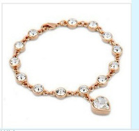 Exquisite Quality 18K White/Roee Gold Plated Bracelet Jewelry Austrian Crystals Best Seller Wholesale 1719522