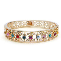 Exquisite Quality 18K White/Roee Gold Plated Bracelet Jewelry Austrian Crystals Best Seller Wholesale 1728370