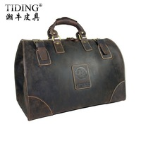 High Quality ! cattle crazy horse leather man large capacity travel bag luggage Duffle Gym suitcase bag 8151