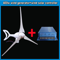 Promotion 500w Max wind turbine for wind generator system 12V/24V output & external wind solar controller Free