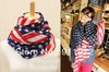 fashion USA America flag star long chiffon scarf shawls wrap scarf shawls 170*70cm mix order 10pcs/lot