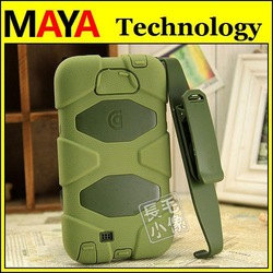 Survivor Defender series water/dirt/shock proof Hybrid PC+Silicone case for Samsung galaxy note 2 N7100 with belt clip retai box(China (Mainland))