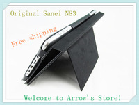 """Free shipping 8""""inch original PU leather case for Sanei N83/Ampe A85 Tablet PC"""