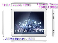 A31 Allwinner Quad Core CPU 2G RAM DDR 16G IPS display 1280*800p A31 10 inch Android 4.1 HDMI