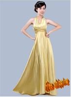 Long design halter-neck evening dress