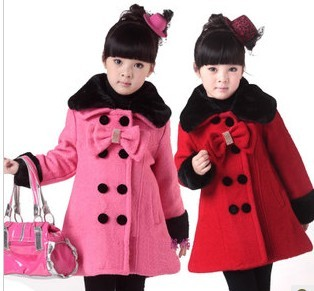 2013 Clothing female child baby big boy trench double breasted wool coat child winter outerwear clothes 2013 Brand Geometry(China (Mainland))