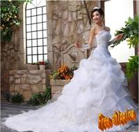 Wedding dress formal  big train fashion slim princess type