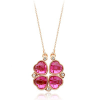 18K White/Rose Gold Plated Fashion Pendant Necklace Top Quality Austria Crystal Exquisite Jewelry 1773344