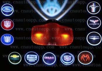 Car Emblem LED LOGO Welcome Light Door Ground Projecting Lamp For Ford/Chevrolet/Jeep/GMC/Cadillac/Dodge/Chrysler /mustang etc