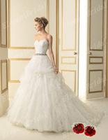 New Arrival Ball Gown Chapel Train Wedding Dresses Sweetheart Wedding Gown Floor Length 2013