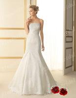 New Arrival Chapel Train Mermaid Lace Wedding Dresses Sweetheart Wedding Gown Floor Length 2013